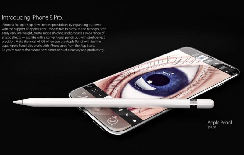 iPhone-8-glass-apple-pen