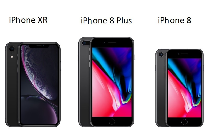 iphone xr and iphone 8 plus
